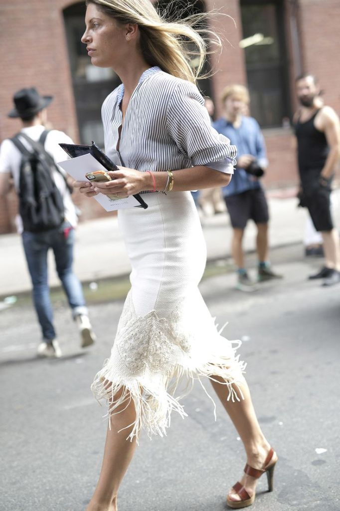 e8c7c0d8c53b4e22c5369c3f357ffa22, fringe, fringe skirt, stripe oxford, valerie boster, style setters, editor, stylist, fall, fall whites, white skirt