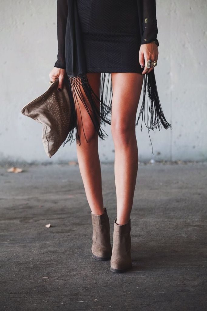 ed7f4b71b0027e87ccc6d6f2f62cba65, fringe, fringe shirt, clutch, booties, lbd, trends, fall
