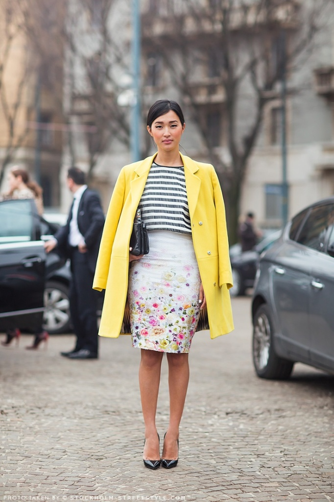 floral-pencil-skirt-striped-shirt-stripes-spring