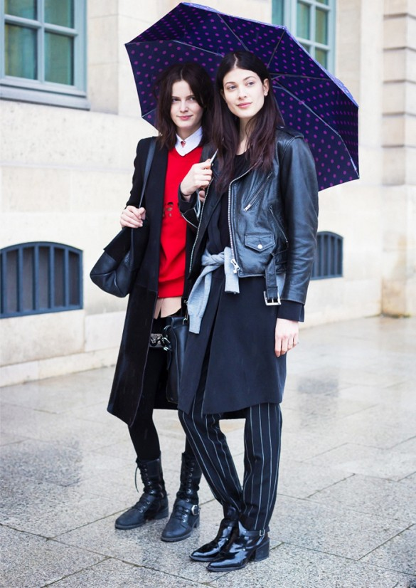 rain, pinstripes, moto jacket, layers, spring, fall, model style, umbrella