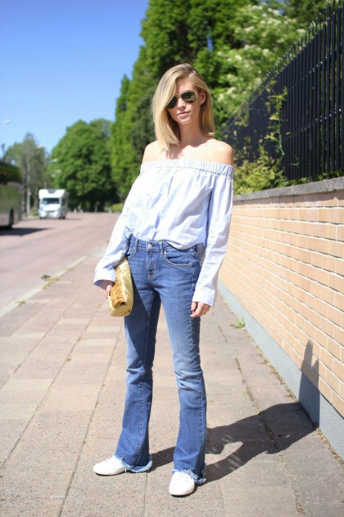 off-the-shoulder-summer-denim-sneakers-via-thefashioneaters.com