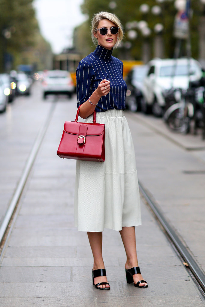 pinstripes, red bag, culottes, MFW-Street-Style-Day-2-11