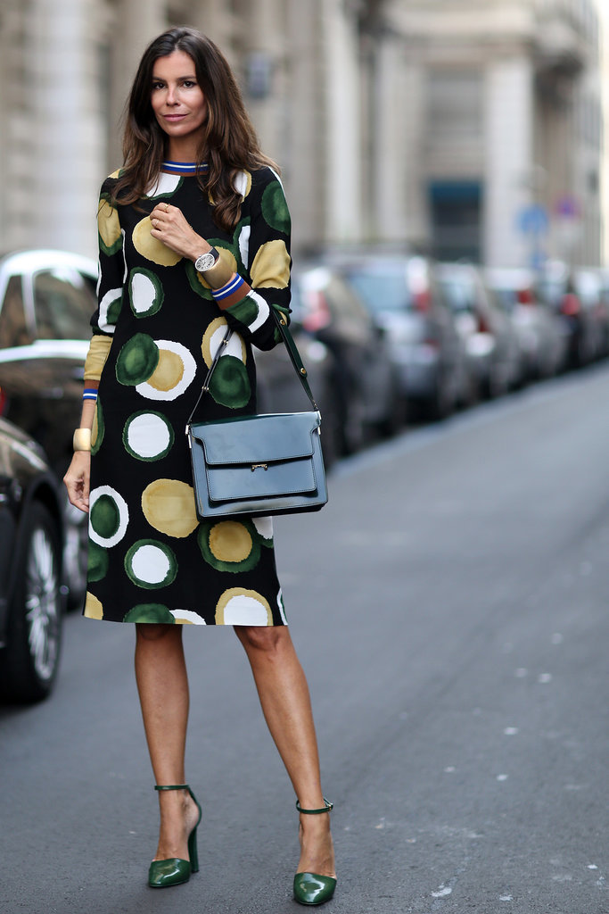 printed dress, graphic prints, ladylike, fall, MFW-Street-Style-Day-5-6