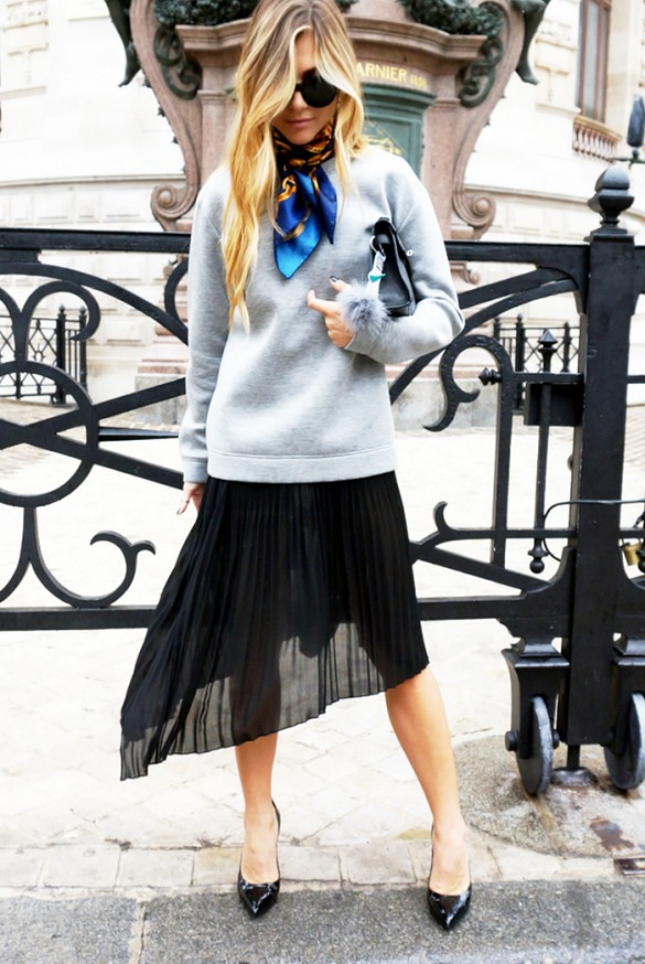 asymmetrical-skirts-pleated-skirts-scarf-grey-sweater-skirt-via-