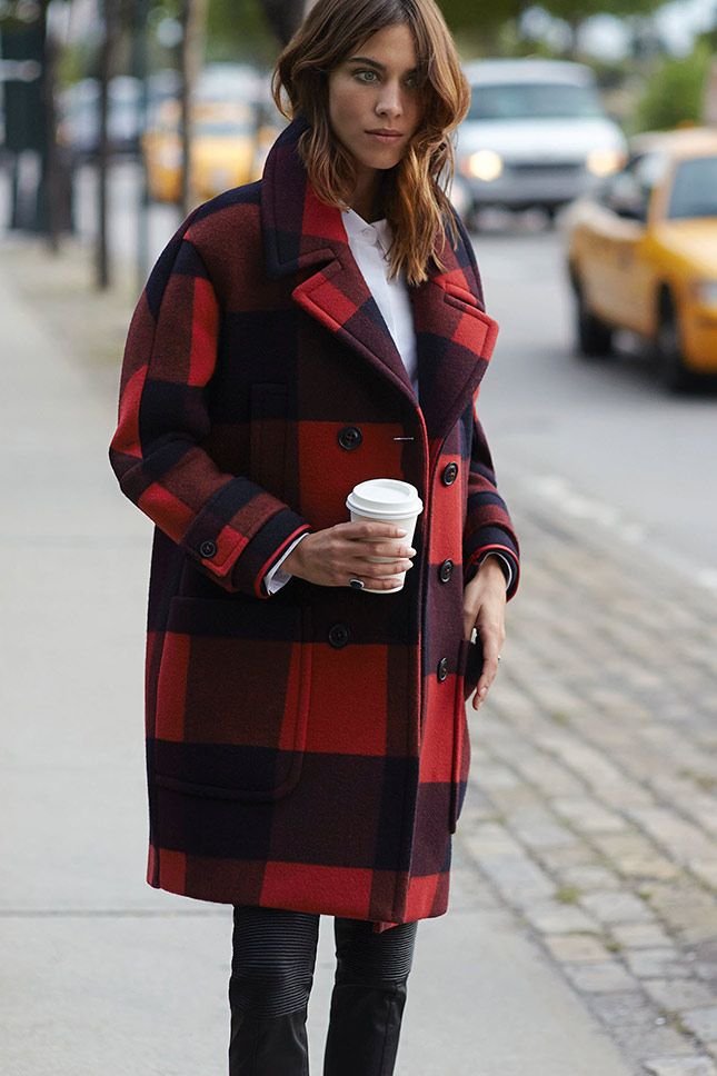 alexa-chung-red-lumberjack-plaid-plaid-coat-leather-skinnies-fall-style-red-and-black-checkered-coat-via-celebinspire.tumblr.com