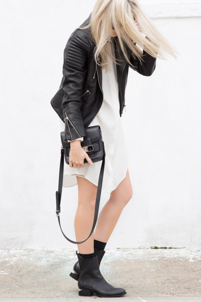 black-and-white-boots-dresses-fall-whites-moto-jacket-leather-jacket-via-justthedesign