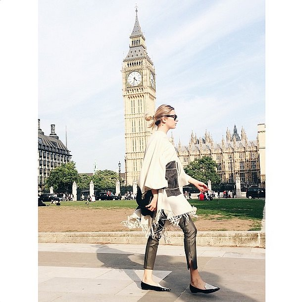 blanket-poncho-black-and-white-pointy-toe-loafers-flats-fall-via-camtyox-instagram