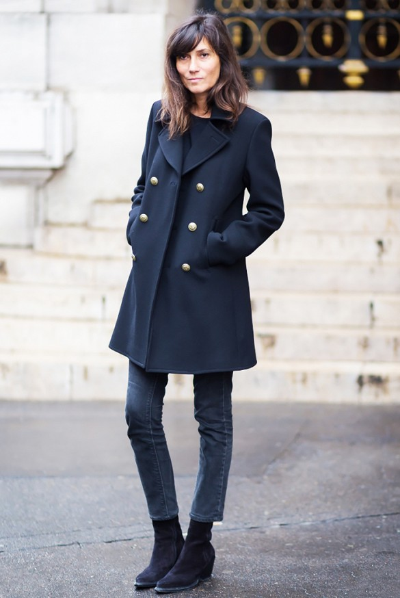 emmanuelle-alt-french-style-black-ankle-boot-snavy-military-coat-ankle-jeans-via-style-du-monde