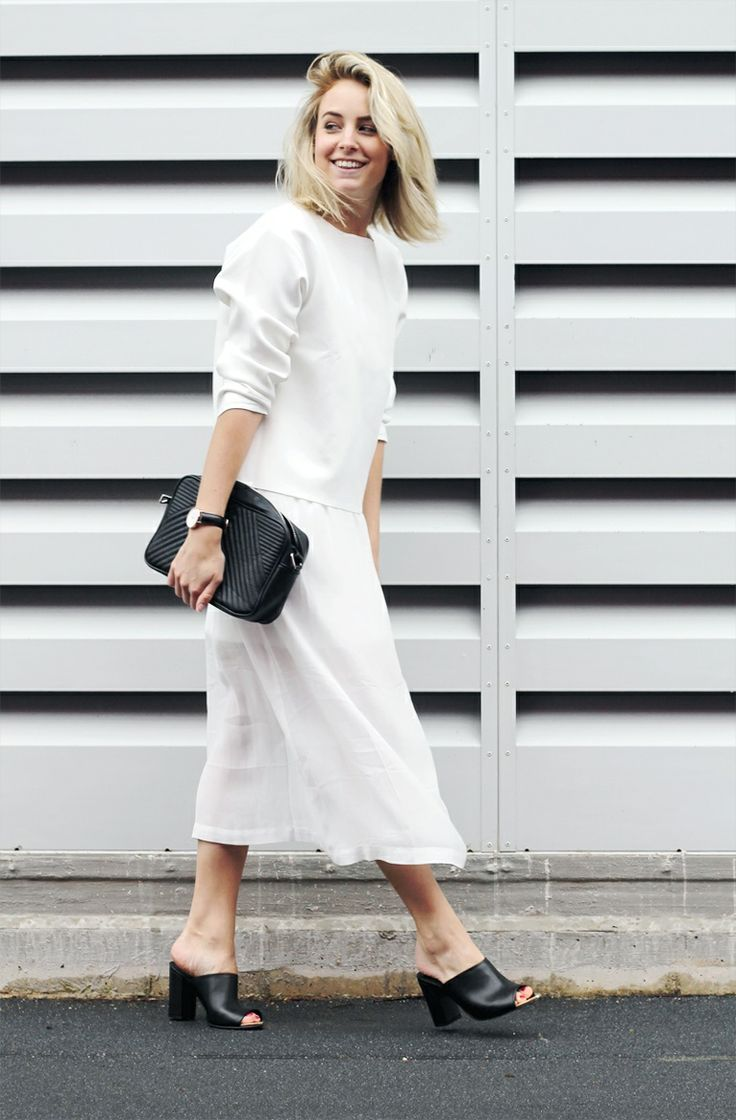 fall-whites-black-and-white-mules-clutch-skirt-set-via-thenletitbe.tumblr.com