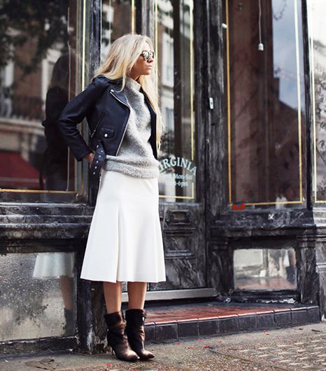 fall-whites-white-midi-skirt-black-leather-moto-jacket-grey-fuzzy-furry-sweater-fall-neturals-black-andkle-boots-via-whowhatwear