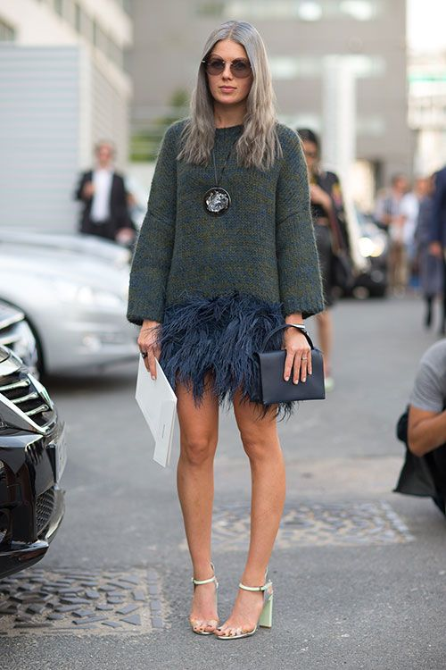 feather-skirt-sweater-top-handle-mini-bag-sandals-heels-via-harpersbazaar.ocom