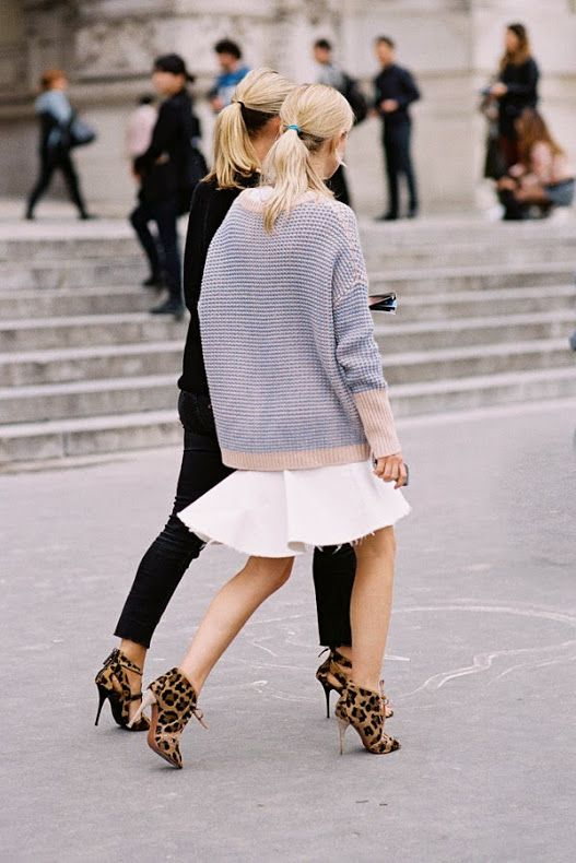 flippy-skirt-white-skirt-fall-whites-sweaters-and-skirts-leopard-print-booties-animal-prints-fall-spring-fall-pastels-via-thenletitbe.tumblr.com