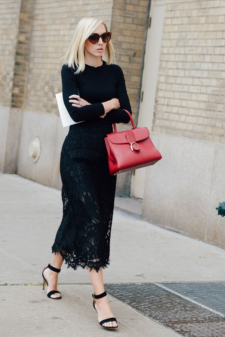 lace-black-midi-skirt-sheer-ankle-strap-sandals-red-top-handle-purse-all-black-jane-keltner-devalle-via-lookastic.com-via-pinterest