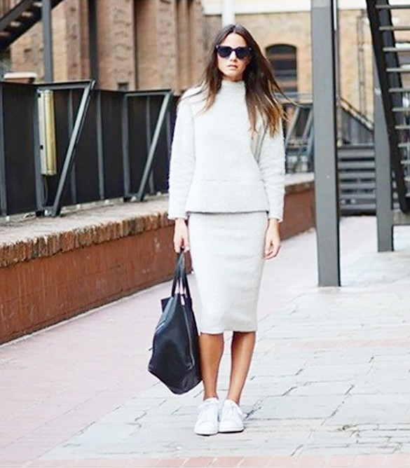 white trainers with skirts