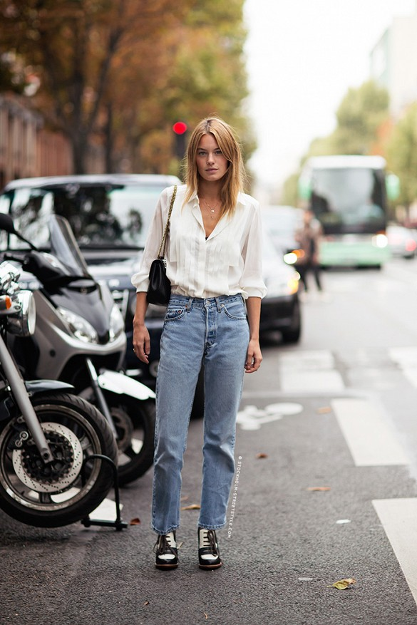 mom-jeans-white-and-black-booties-via-stockholm-street-style
