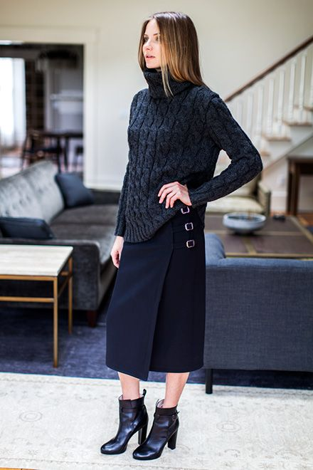 monochromatic-all-black-turtleneck-sweater-skirt-ankle-boots-wrap-skirt-via-emersonfry