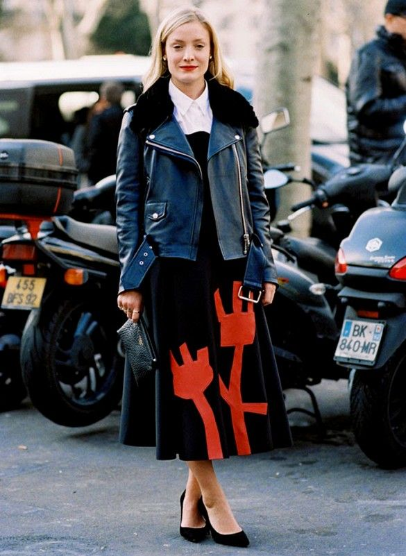 moto-jacket-midi-skirt-fall-winter-via-pinterest