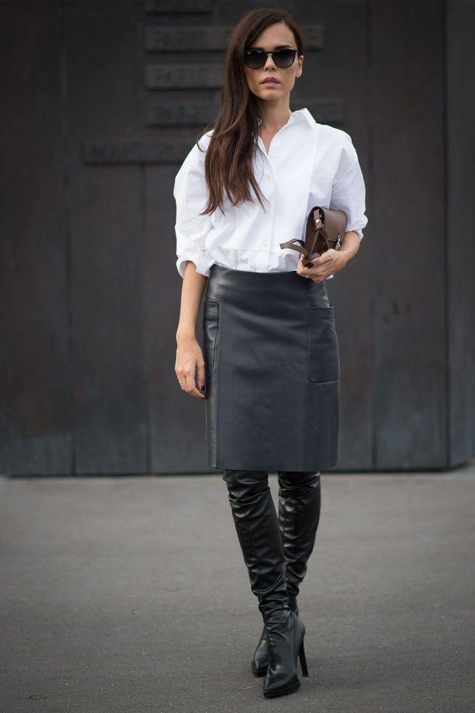over-the-knee-boots-black-leather-pencil-skirt-white-oxford-mini ...