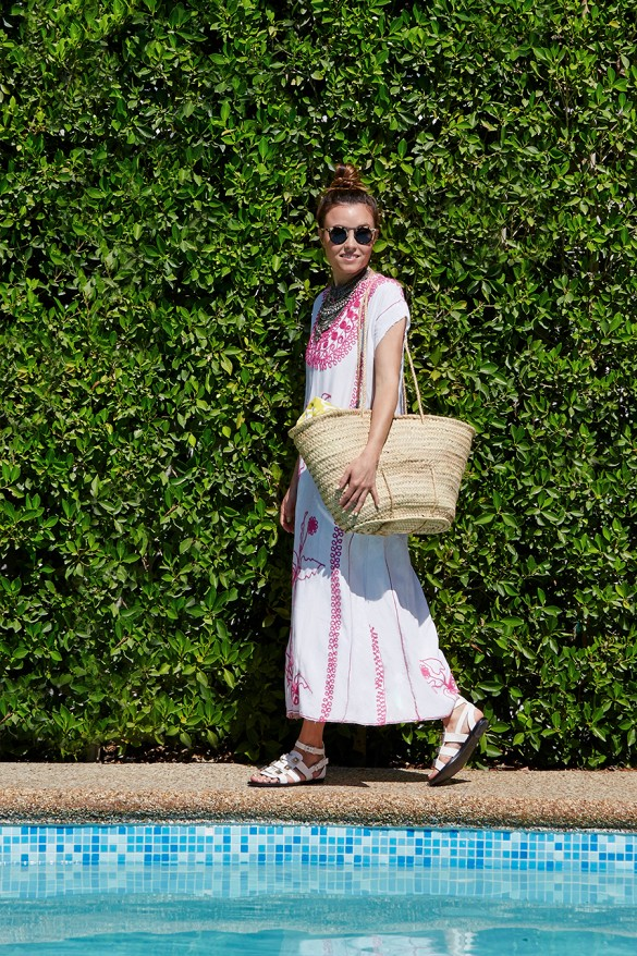 pool-party-boho-maxi-dress-cover-up-embroidered-dress-sandals-straw-beach-bag-pool-party-beach-summer-via-www