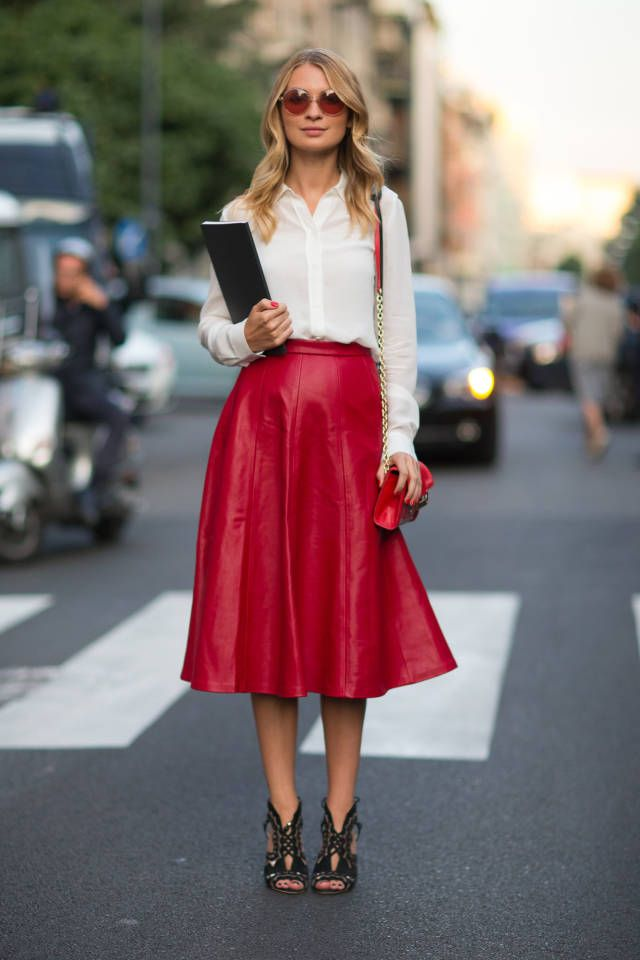 22 Ways To Style a Leather Midi Skirt | Closetful of Clothes
