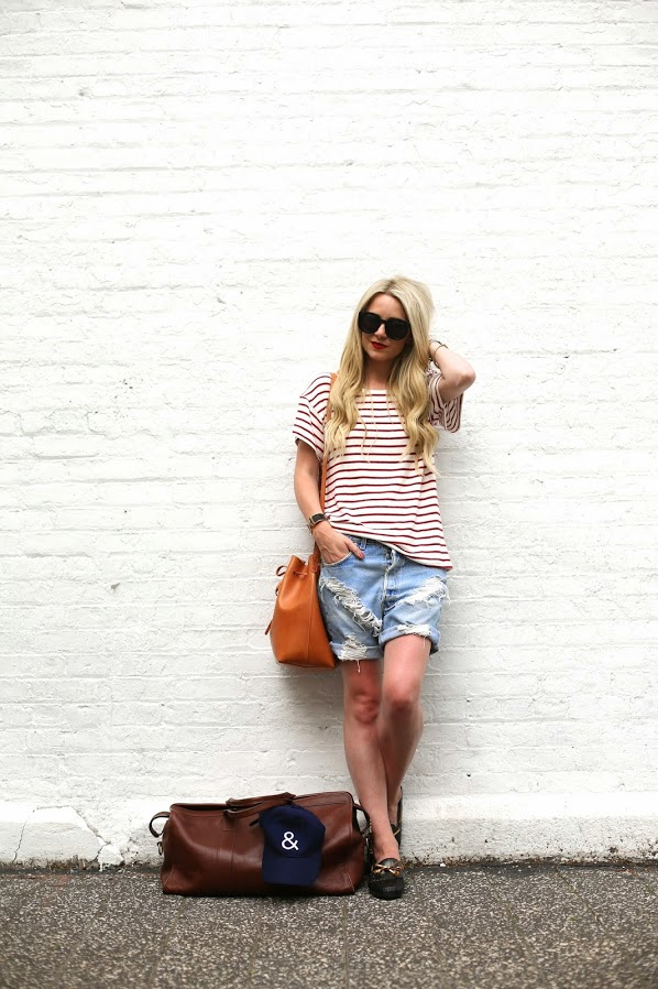 striped-shirt-cutoffs-weekend-travel-bucket-bag-summer-weekend-via-atlantic-pacfici