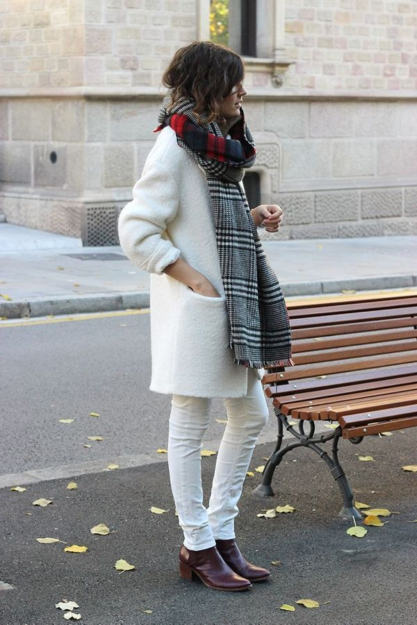 white-jeans-white-coats-fall-whites-brown-bootis-houndstooth-scarf-via-fashion.lovelyish.com