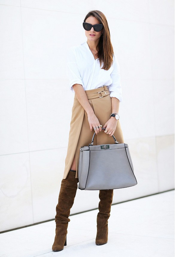 wrap-skirt-camel-neutrals-fall-knee-high-boots-suede-via-fashionvibe