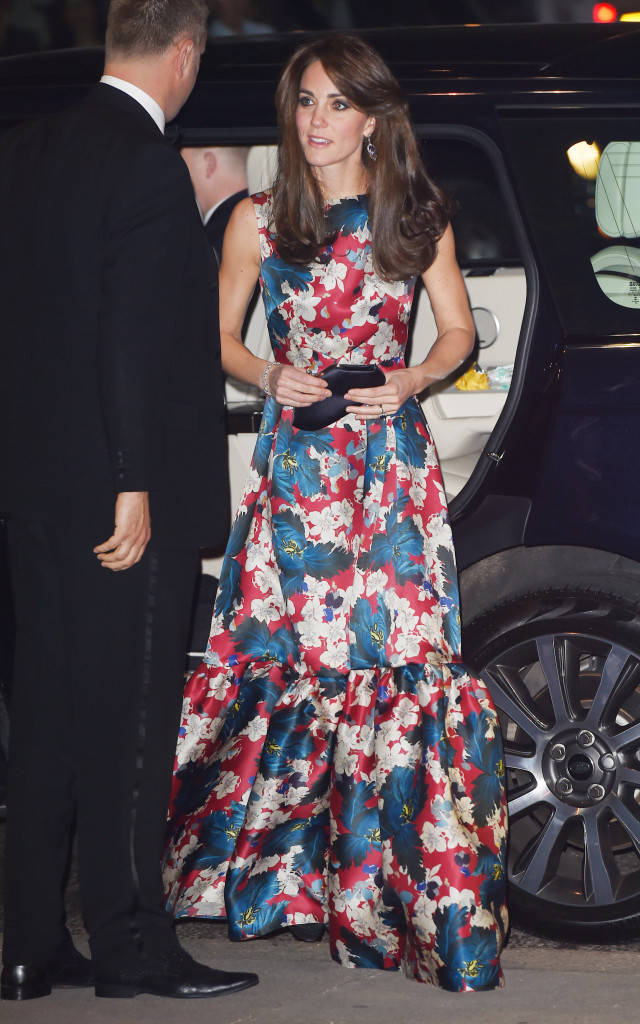 holiday party outfit, sequined dress, party dress, black tie, kate middleton, floral dress