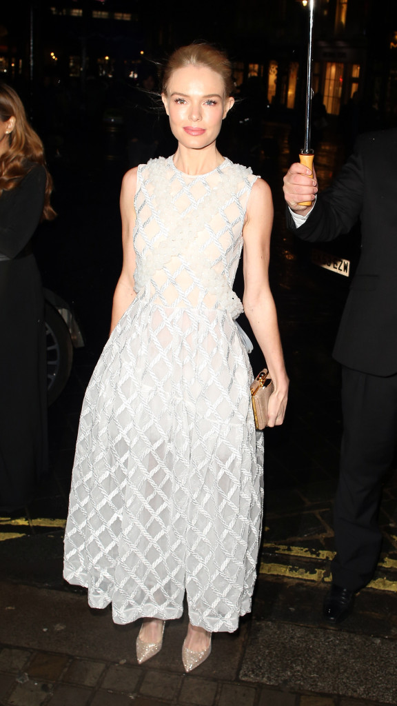holiday party outfit, sequined dress, party dress, black tie, white silver evening gown dress kate bosworth