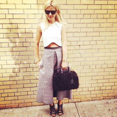 crop tops and culottes