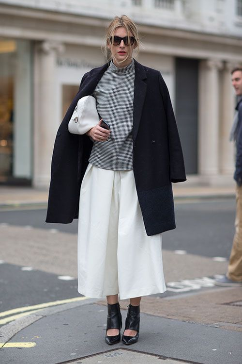 fall-whites-cullottes-turtleneck-black-coat-cutout-heels-via-harpersbazaar.com