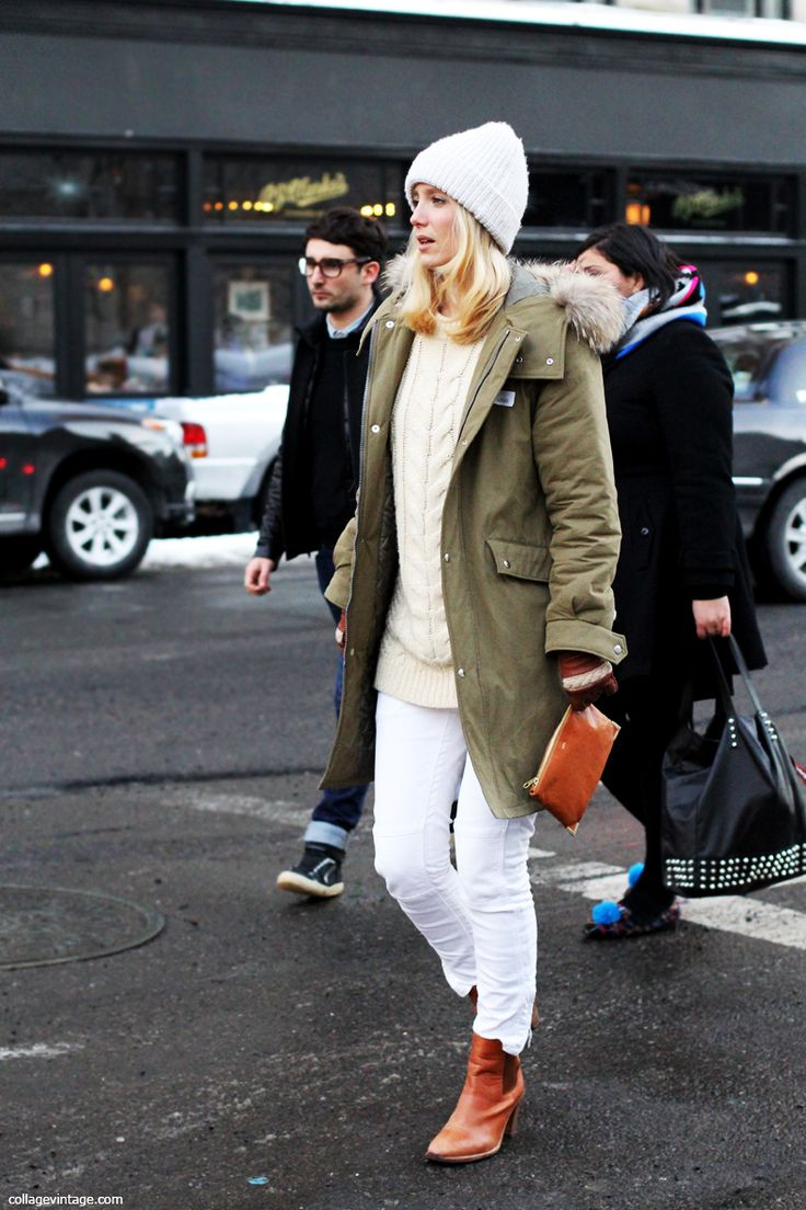 fall-whites-white-jeans-all-white-white-on-white-fisherman-sweater-brown-booties-army-coat-beanie-winter-via-collagevintage.com