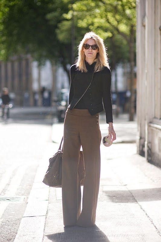 how to wer brown and black, fall-work-wide-leg-pants-classic-camel