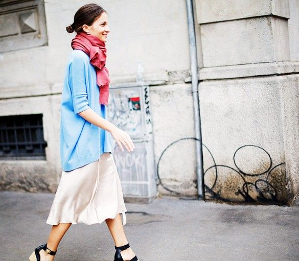 maria-duenas-sweater-over-skirt-scarf-sandals-slip-dress-fall-via-whowhatwear