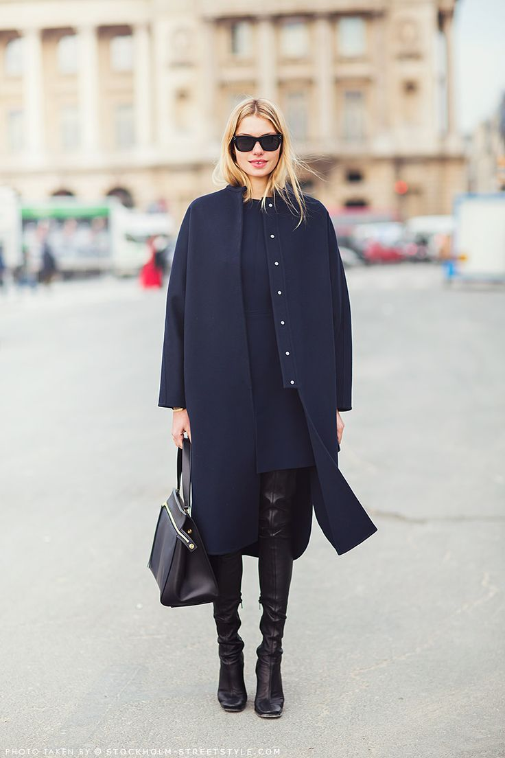 navy-and-black-black-over-the-knee-boots-dress-and-coat-set-winter-work-black-bag-model-style-via-stockholm-streetstyle.com