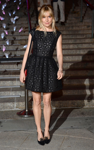 sienna-miller-lbd-black-lace-party-dress-going-out-night-out-via-getty