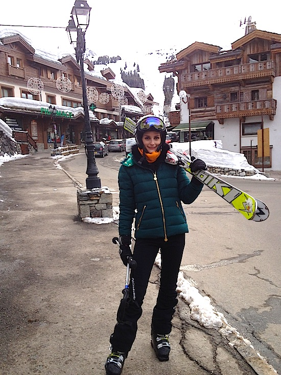 what to wear skiing, ski outfit, olivia palermo