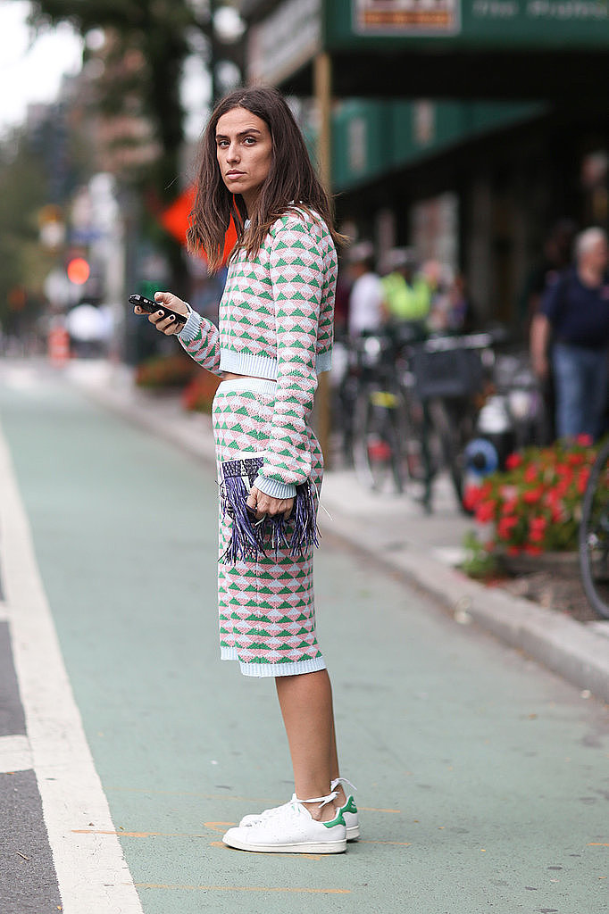 skirt-sent-fall-pastels-fringe-clutch-adidas-sneakers-via-imaxtree-via-popsugar