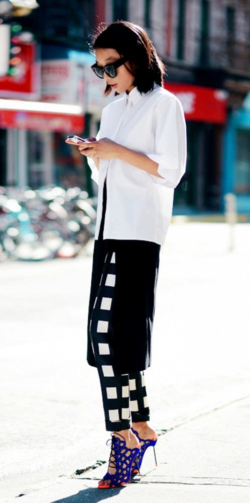 skirts-over-pants-windowpane-prints-black-and-white-fall-via-whowhatwear