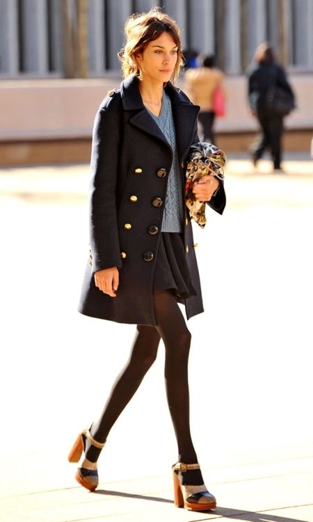 transitional-dressing-sandals-fall-winter-sandals-and-tights-navy-pea-coat-sweaters-and-skirts-military-coat-pea-coat-preppy-classic-via-theglitterguide