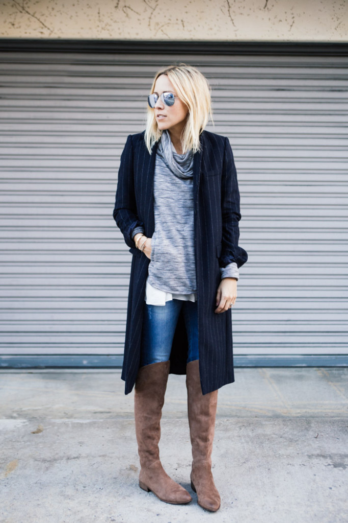 damsel in dior, over the knee thigh high boots, weekend outfit, errands