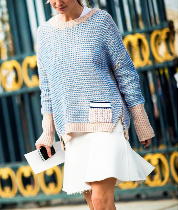 white-skirt-winter-winter-whites-peplum-skirt-flippy-skirt-fray-edges-sweaters-and-skirts-winter-pastels-zipper-colorblock-sweater-textured-sweater-sweaters-over-dresses-via-le-21eme-via-whowhatwear