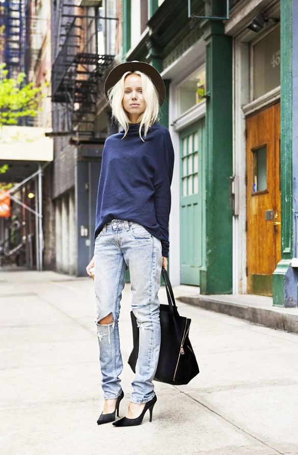 how to wear a turtleneck, elin kling