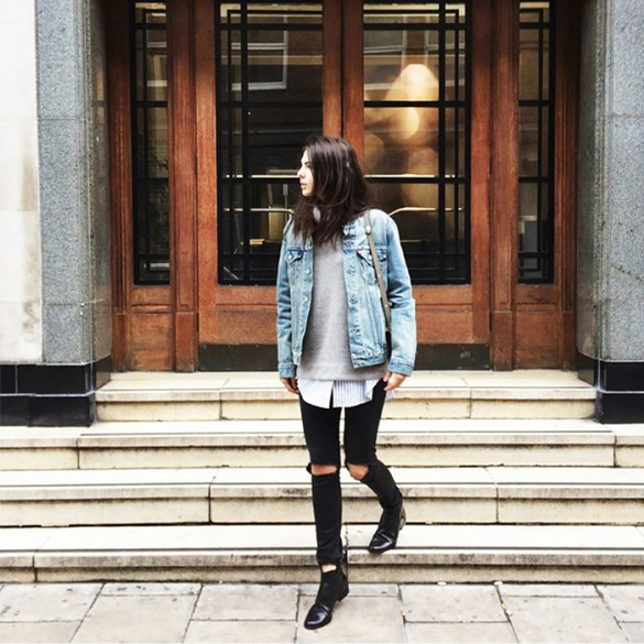 a840863d1fe3 how to wear a denim jacket in winter, denim jackets, jean jackets, black