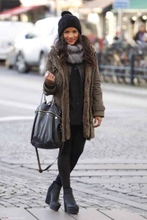 polar-vorte-outfit-army-coat-parka-winter-via-whowhatwear ...