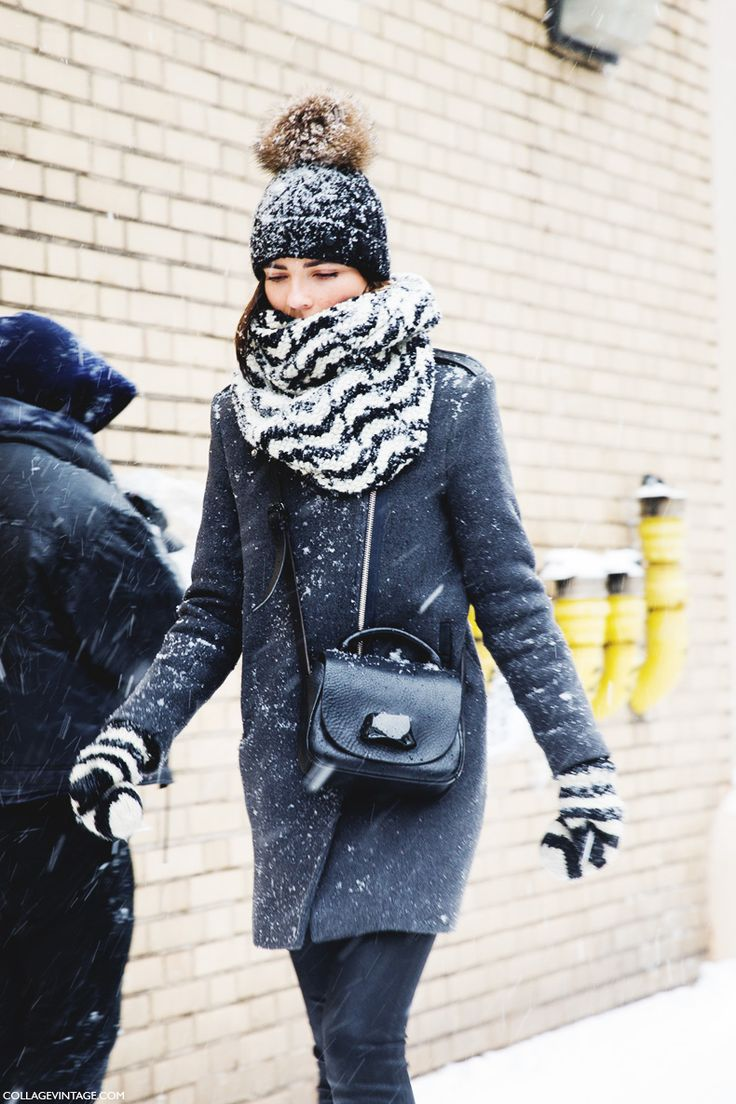 beanie, winter outfit, how to wear beanies, winter hat, knit hat, pomp pom hat, snow outfit, striped scarf and gloves