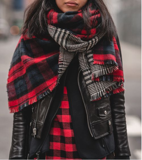how to layer, hoodie, button up shirt, lumberjack plaid, plaid shirt, moto jacket, blanket scarf, plaid scarf, winter outfit, weekend outfit, fall outfit