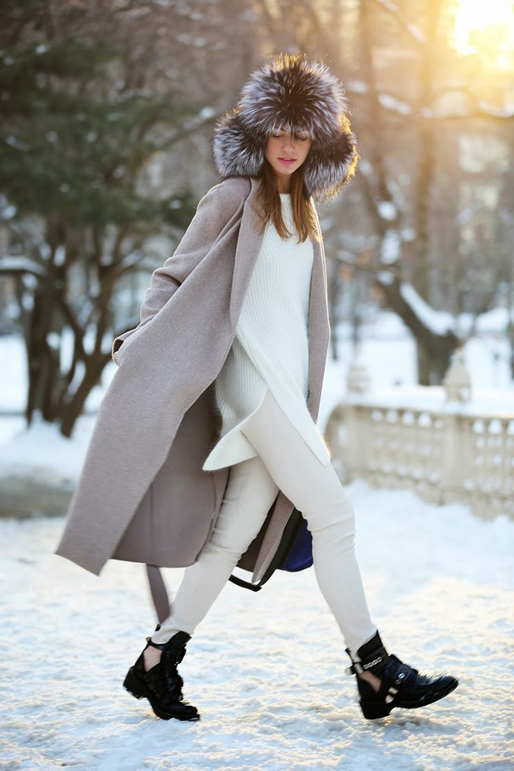 white jeans, all white, winter whites, winter outfit, trapper hat, holiday outfit