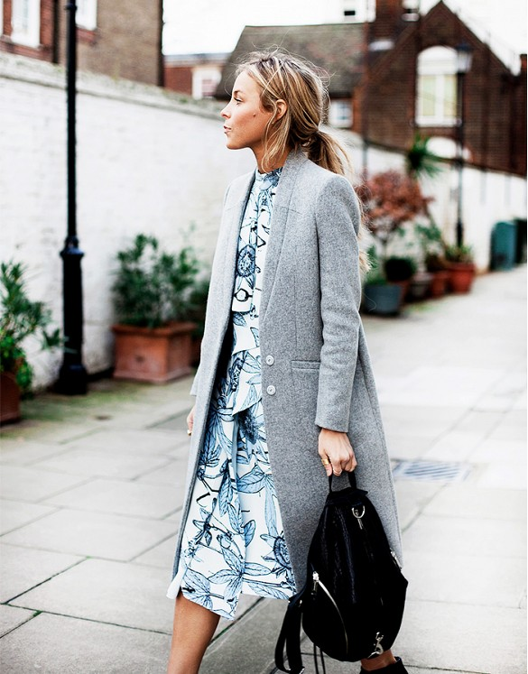 printed-dress-midi-dress-leaf-print-grey-coat-backpack-spring-transitional-style-via-happily-grey