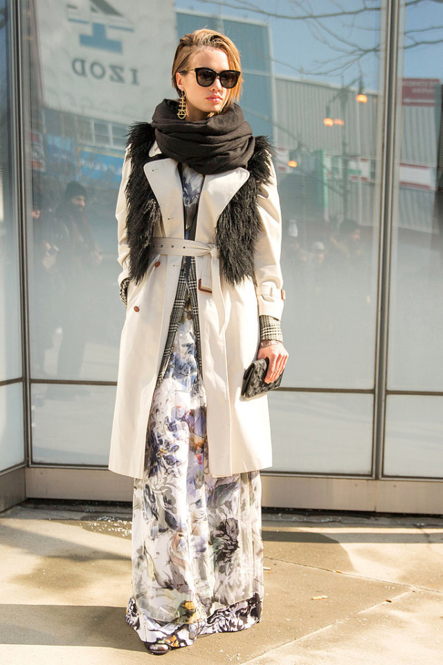 how to layer a long dress